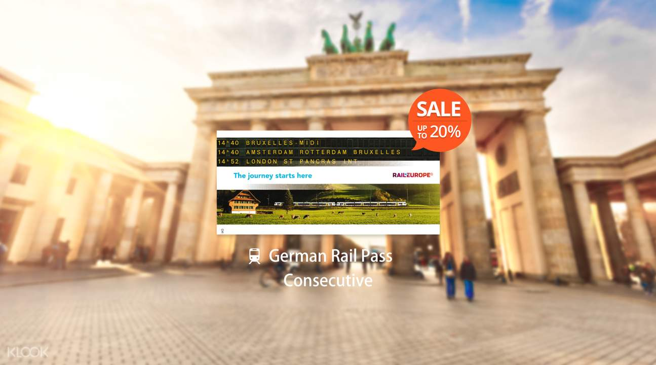 [Sale] German Rail Pass (Consecutive 2, 3 or 7 Days)